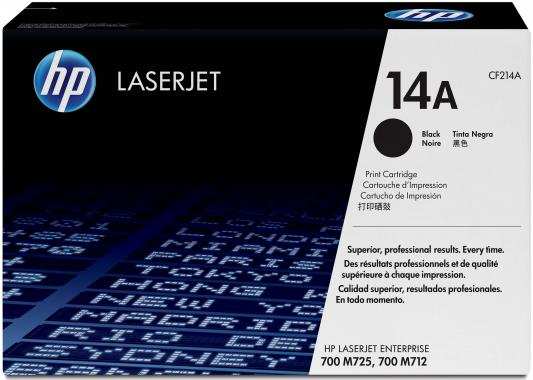 Картридж HP CF214A 14A для LaserJet Enterprise 700 Printer M712dn M712xh черный 10000стр принтер hp laserjet enterprise 700 m712dn a3 cf236a