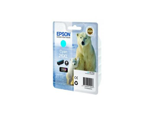 Картридж Epson C13T26324010 для XP-600 XP-605 XP-700 XP-800 Cyan Голубой увеличенный suitable for north america t2001 ciss chip for epson xp 200 xp 300 xp 400 xp 510 printer arc chip for epson t2001 t2004