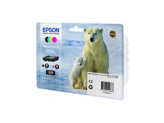 Набор картриджей Epson C13T26364010 MultiPack для XP-600 XP-700 XP-800 увеличенный suitable for north america t2001 ciss chip for epson xp 200 xp 300 xp 400 xp 510 printer arc chip for epson t2001 t2004