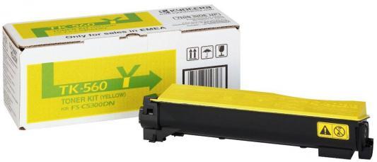 Картридж Kyocera TK-560Y для FS-C5300DN желтый 10000 страниц картридж sakura tk560c cyan для kyocera mita fs c5300dn fs c5350dn ecosys 6030cdn 10000k
