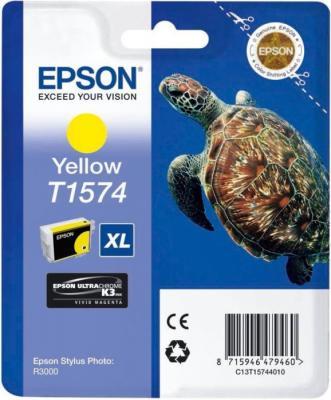 Картридж Epson C13T15744010 для Epson Stylus Photo R3000 желтый картридж epson stylus photo r3000 c13t15754010