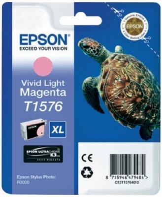 Картридж Epson C13T15764010 для Epson Stylus Photo R3000 светло-пурпурный картридж epson t009402 для epson st photo 900 1270 1290 color 2 pack
