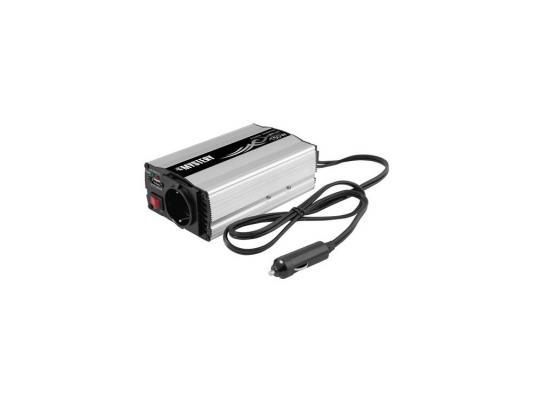 Автомобильный инвертор напряжения Mystery MAC-150 150Вт выходы евророзетка 230В и USB 5В