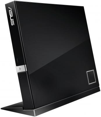 Внешний оптический накопитель ASUS SBC-06D2X-U Black <Slim, USB2.0, Retail> �������������� ������������ blu ray asus sbw 06d2x u blk g as slim usb2 0 retail ������������