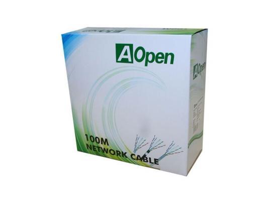 Кабель Aopen ANC6141 4 пары кат.6 бухта 100м кабель aopen hdmi 19m m 1 4v 3d ethernet aopen