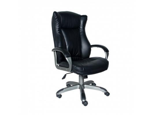 Кресло Buro CH-879DG/Black черный кожезаменитель темно-серый пластик