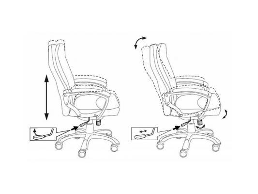 Кресло Buro CH-868AXSN/Black пластик темно-серый черная искусственная кожа
