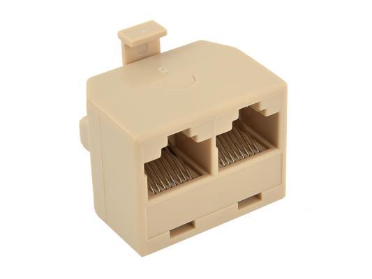 Переходник-разветвитель 8P8C Plug/2-8P8C Jack VCOM <VTE7714>