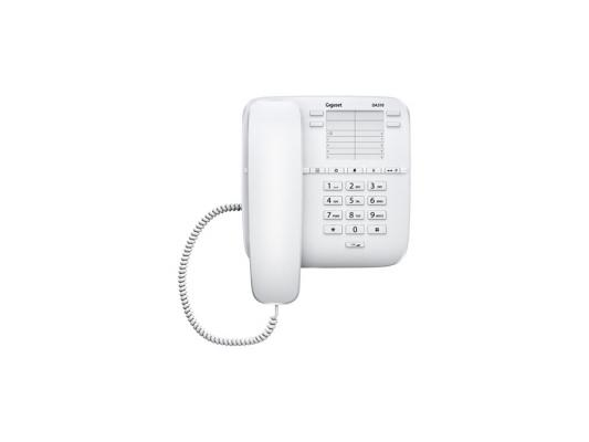 Телефон Gigaset DA310 белый  gigaset da310 im