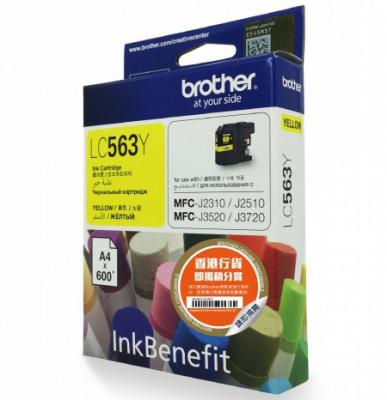 Картридж Brother LC563Y для MFC-J2510 Желтый 600стр картридж brother lc563y для mfc j2510 желтый 600стр
