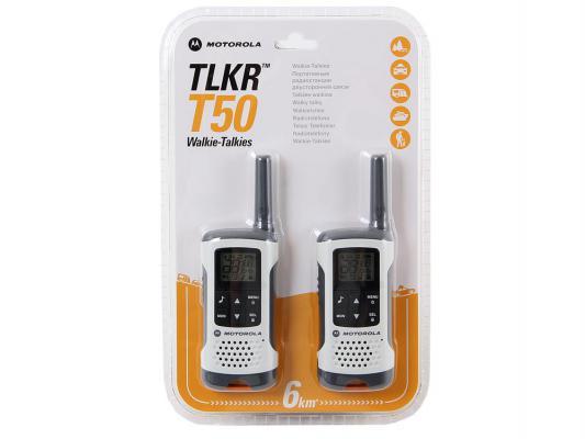 Радиостанция Motorola TLKR-T50 белый/серый радиостанция motorola tlkr t80 extreme quad pack