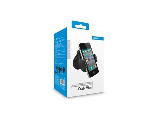 Автомобильный держатель Deppa Crab mini универсальный черный автомобильный держатель универсальный deppa crab air для смартфонов 3 5 5 5 крепление на вент решетку 55117