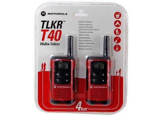 Радиостанция Motorola TLKR-T40 красный/черный радиостанция motorola tlkr t80 2 штуки