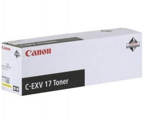 Фото - Тонер-картридж Canon C-EXV17Y для iRC 4080i/4580i. Жёлтый. 30000 страниц. фотобарабан canon c exv16 17y для canon ir c5180 5180i 5185i 4580 4580i 4080 4080i clc 4040 5151 желтый 60000 страниц
