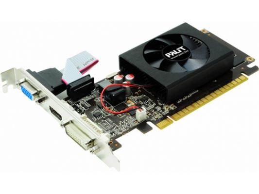 Видеокарта 2048Mb Palit GeForce GT610 PCI-E D-Sub DVI HDMI NEAT6100HD46-1196F Retail