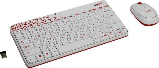 Клавиатура + мышь Logitech MK240 USB белый 920-008212 920 008868 клавиатура logitech rgb mechanical gaming keyboard g513 tactile switch
