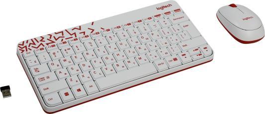 Клавиатура + мышь Logitech MK240 USB белый (920-005791) клавиатура мышь logitech mk240 usb белый 920 005791