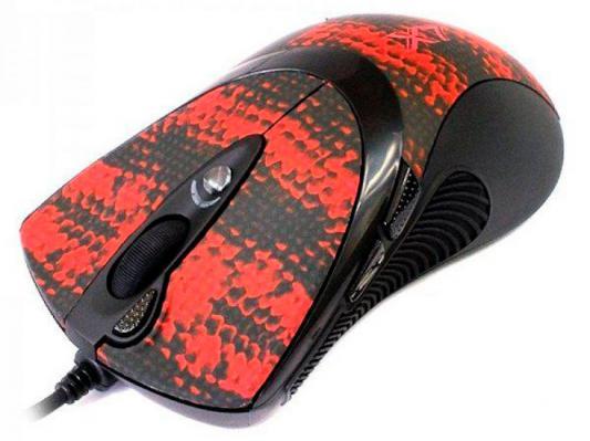 Мышь проводная A4TECH F7 V-Track Gaming Snake Coating чёрный рисунок USB мышь a4tech f7 snake coating usb