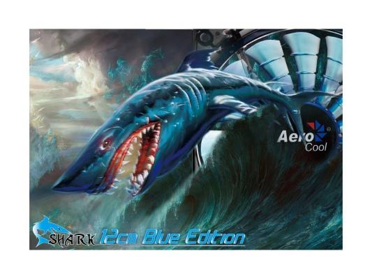 Вентилятор Aerocool Shark Blue Edition 120 мм (EN55420)