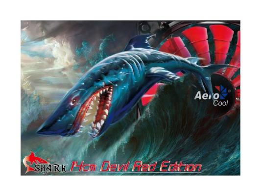 Вентилятор Aerocool Shark Devil Red Edition 140 мм (EN55475)