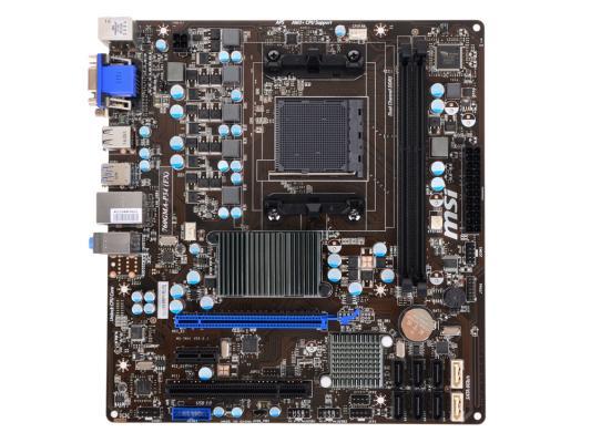 Материнская плата MSI 760GMA-P34 (FX) <AM3+, 760G, 2xDDR3, 1xPCI-E 16x, 1xPCI-E 1x, 1xPCI, 6xSATAII, 2xSATAIII, Raid, D-Sub, Glan, mATX, Retail>
