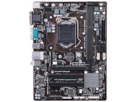 Мат. плата для ПК GigaByte GA-H81M-S2PV Socket 1150 H81 2xDDR3 1xPCI-E 16x 2xPCI 1xPCI-E 1x 2xSATA II 2xSATAIII mATX Retail