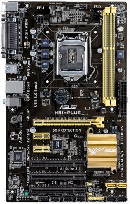 Мат. плата для ПК ASUS H81-PLUS Socket 1150 H81 2xDDR3 1xPCI-E 16x 3xPCI 2xPCI-E 1x 2xSATA II 2xSATAIII ATX Retail