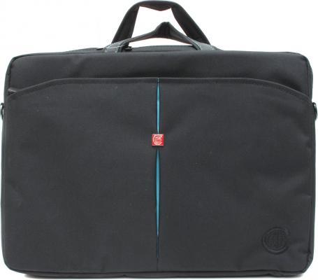 """Сумка для ноутбука 15"""" Continent СC-01 нейлон черный синий"""