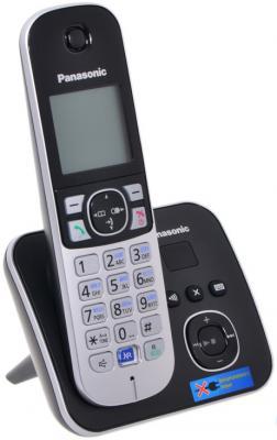 Телефон DECT Panasonic KX-TG6821RUB черный xincuco embossing pattern acrylic tpu shell for iphone 6s 6 4 7 rabbit gigi