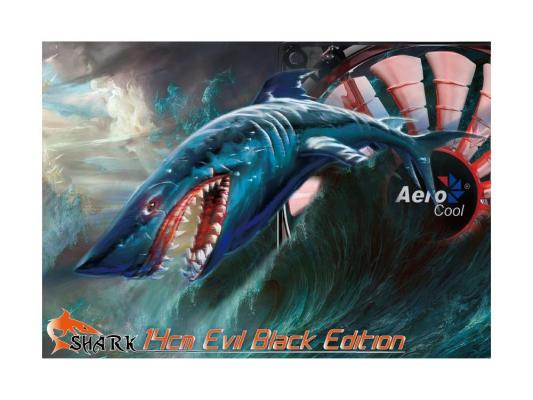 Вентилятор Aerocool Shark Evil Black Edition 140 мм (EN55482)
