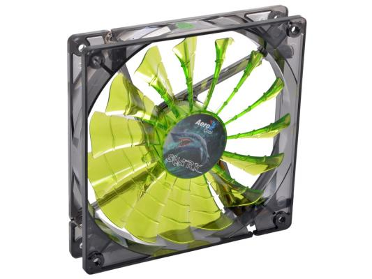 Вентилятор Aerocool Shark Evil Green Edition 140 мм (EN55703)