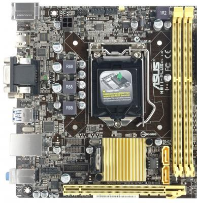 Материнская плата для ПК ASUS H81I-PLUS Socket 1150 H81 2xDDR3 1xPCI-E 16x 2xSATA II 2xSATAIII mini-ITX Retail