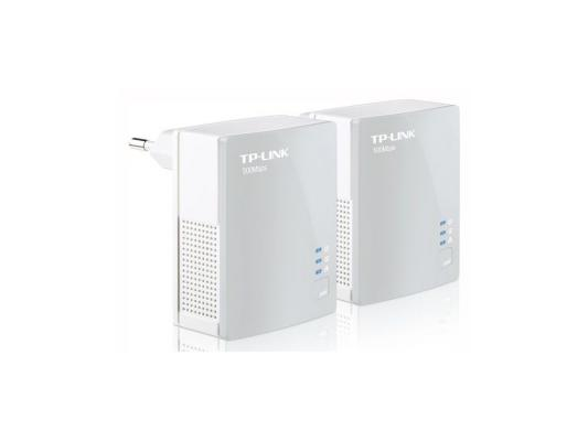 Комплект адаптеров Powerline TP-LINK TL-PA4010KIT 10/100Mbps 500Mbps адаптер tp link tl pa4010kit av500 nano powerline ethernet adapter ultra compact size 500mbps powerline datarate 10 100mbps fast ethernet