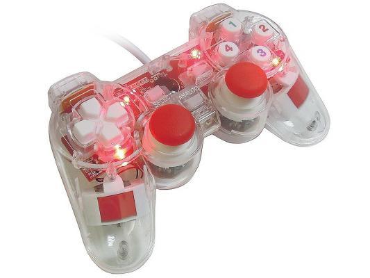 лучшая цена Геймпад 3Cott Single GP-01 USB 14 кнопок прозрачный