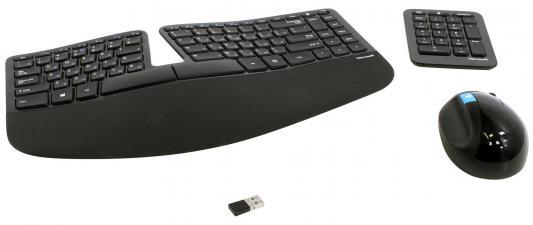 Комплект Microsoft Sculpt Ergonomic USB черный L5V-00017
