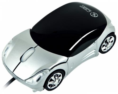 Мышь проводная CBR MF 500 Corso чёрный серебристый USB