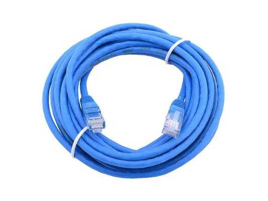 Патч-корд Aopen ANP511 5E категории UTP 15м синий патч корд 5e категории aopen anp511 utp 1м красный