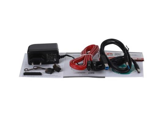 "Док станция для HDD 2.5""/3.5"" SATA/eSATA AgeStar 3CBT4 USB3.0 черный"