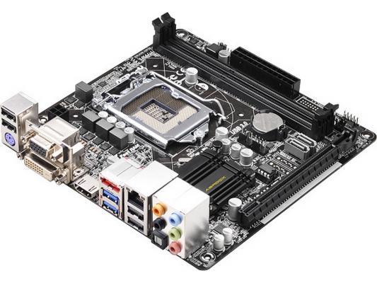 Материнская плата ASRock H81M-ITX-M/ASRK Socket 1150 Intel i81 2xDDR3 1xPCI-E 16x 2xSATAIII 7.1 Sound Glan mini-ITX Retail