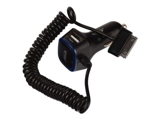 Автомобильное зарядное устройство Ginzzu GA-4315UB 5В/3.0A 2USB + кабель 30pin для Galaxy Tab 1.5м