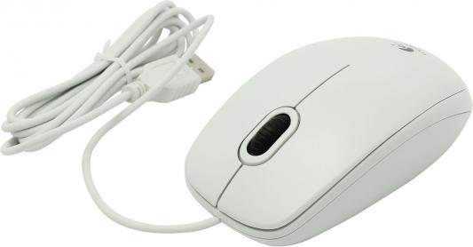 лучшая цена Мышь проводная Logitech B100 белый USB 910-003360