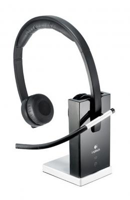 Беспроводная гарнитура Logitech Wireless Headset H820e DUAL (981-000517) гарнитура logitech wireless headset h760 981 000266