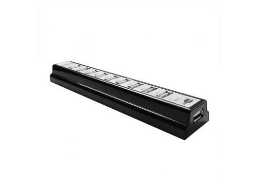 USB концентратор CBR CH-310 10хUSB БП Black