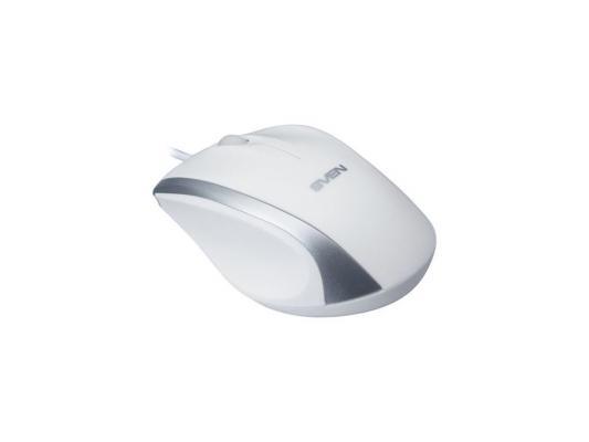Мышь проводная Sven RX-180 белый USB