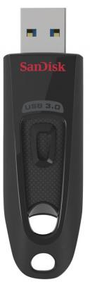 Флешка 64Gb SanDisk Cruzer Ultra USB 3.0 красный черный флешка 16гб sandisk cruzer ultra fit usb 3 1
