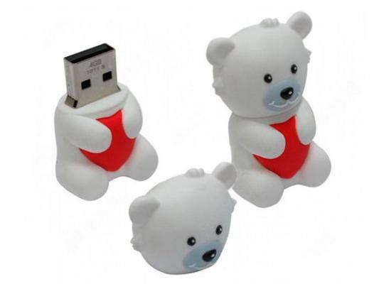 Флешка USB 16Gb ICONIK Мишка Белый УМКА RB-BEARW-16GB usb накопитель iconik rb rdoll 16gb rb rdoll 16gb