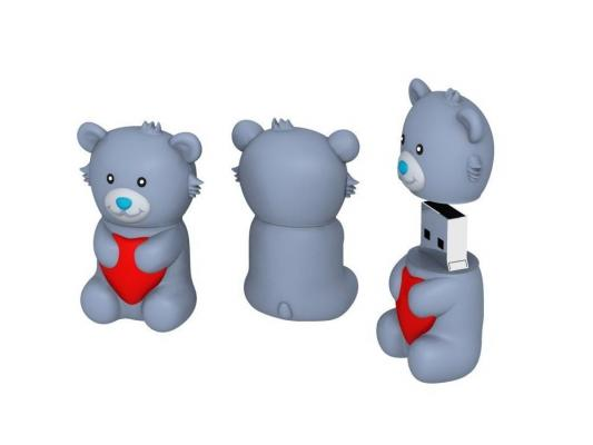 Флешка USB 16Gb ICONIK Мишка Серый ТЕДДИ RB-BEARG-16GB usb flash drive 16gb iconik танк rb tank 16gb