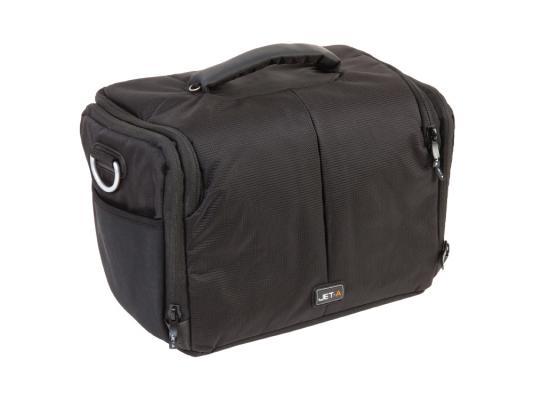 Сумка Jet.A CB-14 для фотоаппарата нейлон, черный/желтый сумка для фотоаппарата benro gamma mini 20 black