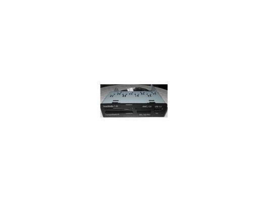 Картридер внутренний 3Cott CF/CF II/MMC/SD/MS/MS Duo/XD/T-F/M2/USB металлический черный