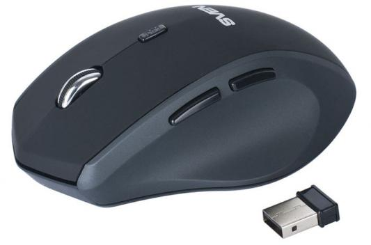 Мышь беспроводная Sven RX-525 Silent чёрный серый USB мышь sven rx 525 silent wireless